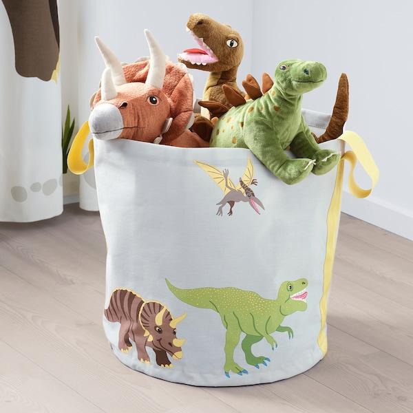 JÄTTELIK Peluche, dinosaure/dinosaure/tricératops, 69 cm