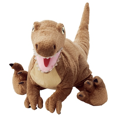 JÄTTELIK Peluche, dinosaure/dinosaure/vélociraptor, 44 cm