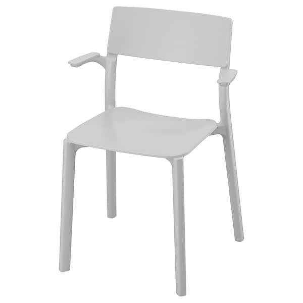 Janinge Chaise A Accoudoirs Gris Ikea