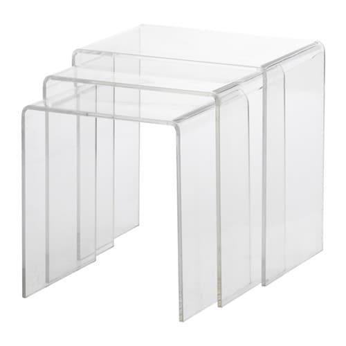 j ppling tables gigognes lot de 3 ikea. Black Bedroom Furniture Sets. Home Design Ideas