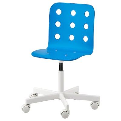 JULES Chaise de bureau enfant, bleu/blanc