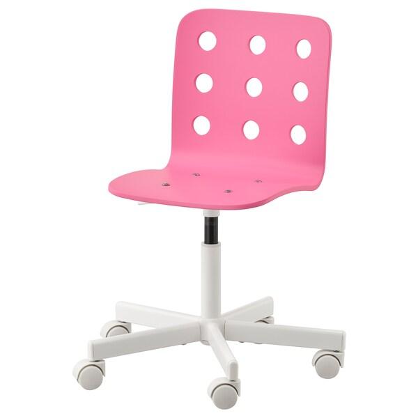 Jules Chaise De Bureau Enfant Rose Blanc Ikea