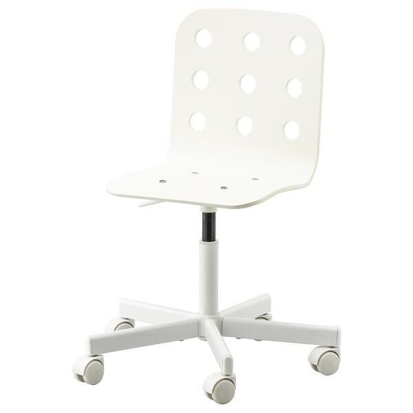 JULES Chaise de bureau enfant, blanc IKEA