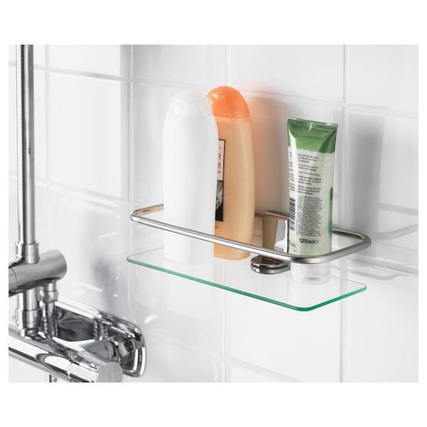 KALKGRUND Étagère douche, chromé, 24x6 cm