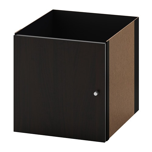 kallax bloc porte brun noir ikea. Black Bedroom Furniture Sets. Home Design Ideas