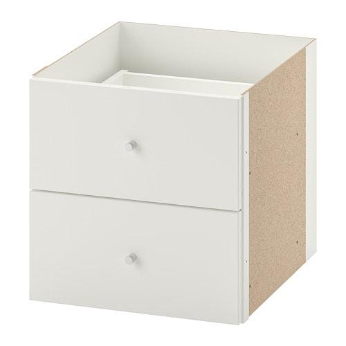 Kallax Bloc 2 Tiroirs Blanc Ikea