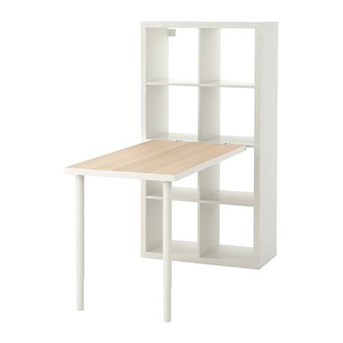 kallax combinaison bureau effet ch ne blanchi blanc ikea. Black Bedroom Furniture Sets. Home Design Ideas