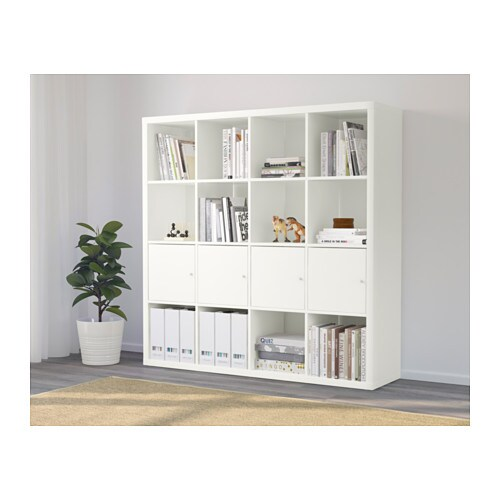 kallax tag re avec 4 accessoires blanc ikea. Black Bedroom Furniture Sets. Home Design Ideas