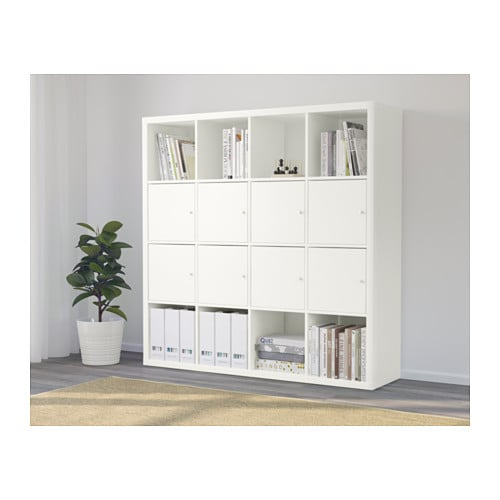 kallax tag re avec 8 accessoires blanc ikea. Black Bedroom Furniture Sets. Home Design Ideas