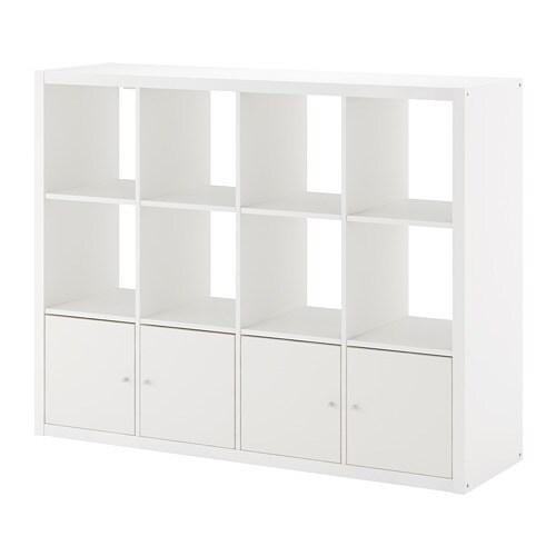 kallax tag re avec 4 accessoires blanc ikea. Black Bedroom Furniture Sets. Home Design Ideas
