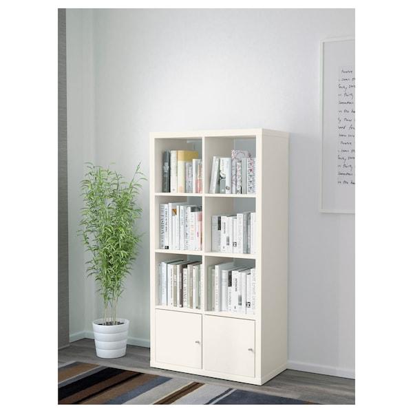 kallax etagere avec portes blanc 77x147 cm