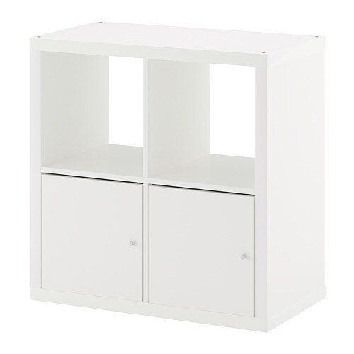 kallax tag re avec portes blanc ikea. Black Bedroom Furniture Sets. Home Design Ideas