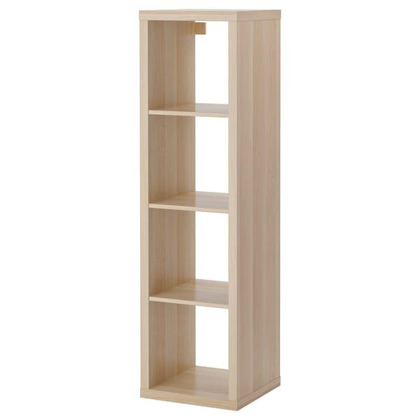 KALLAX Étagère, effet chêne blanchi, 42x147 cm