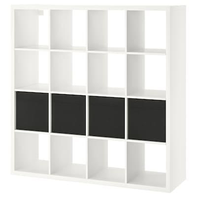 KALLAX étagère avec 4 accessoires blanc 147 cm 39 cm 147 cm 13 kg
