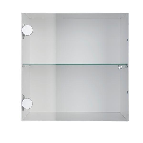 KALLAX Structure à porte vitrée, blanc, 33x33 cm