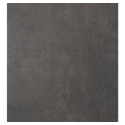 KALLVIKEN Porte, gris foncé imitation ciment, 60x64 cm