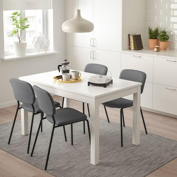 KARLJAN Chaise, gris foncé/Kabusa gris foncé