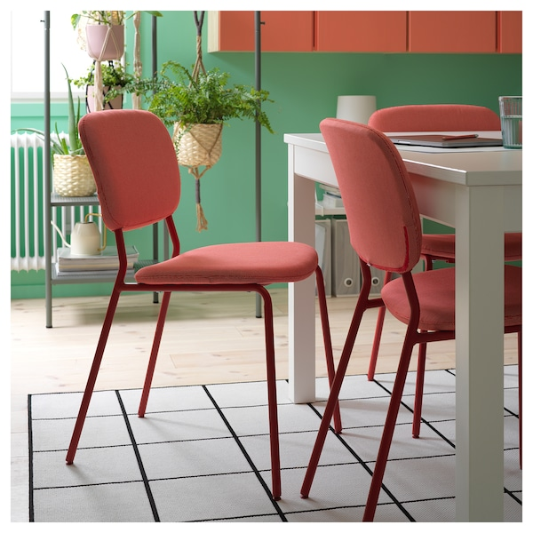 KARLJAN Chaise, rouge/Kabusa rouge