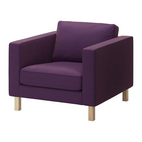 karlstad housse de fauteuil sivik mauve fonc ikea. Black Bedroom Furniture Sets. Home Design Ideas
