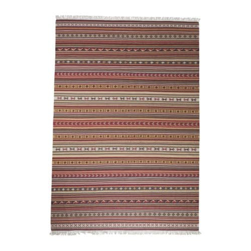 kattrup tapis tiss plat fait main rouge multicolore 140x200 cm ikea. Black Bedroom Furniture Sets. Home Design Ideas