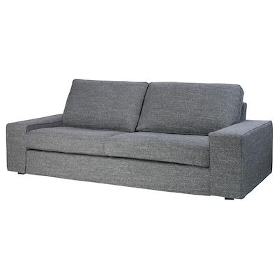 KIVIK Canapé 3 places, Lejde gris/noir