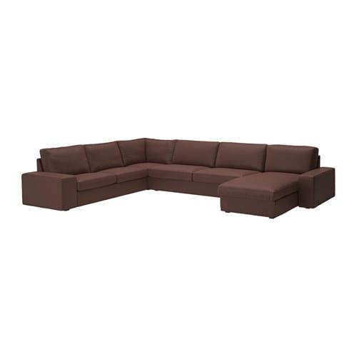 Kivik canap d 39 angle 23 32 m ridienne avec m ridienne borred brun fonc - Hauteur assise canape ...