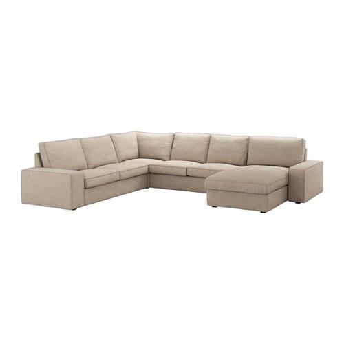 KIVIK Canapé d angle 5 places avec méri nne Hillared beige IKEA