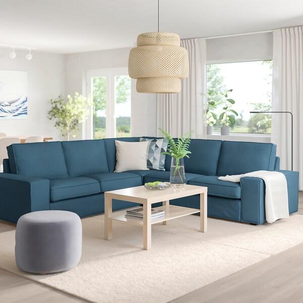KIVIK Canapé d'angle, 4 places, Hillared bleu foncé