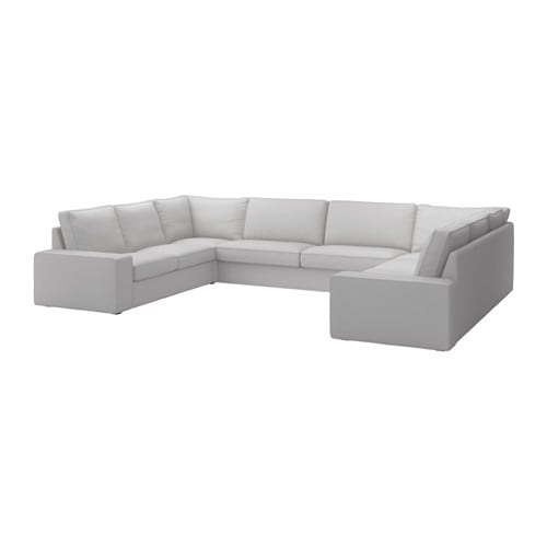 Kivik canap en u 9 places orrsta gris clair ikea for Ikea canape kivik 2 places