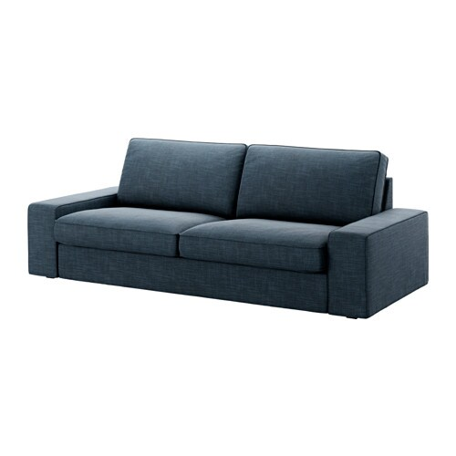 Kivik canap 3 places hillared bleu fonc ikea for Canape 6 places ikea