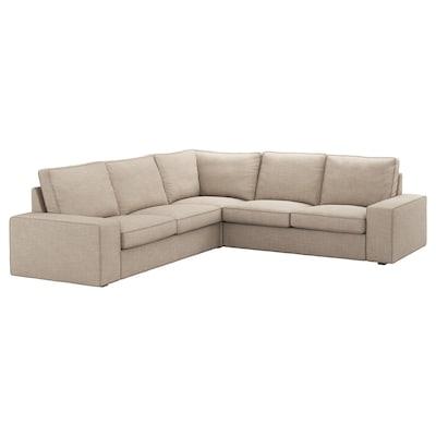 KIVIK canapé d'angle, 4 places Hillared beige 95 cm 83 cm 257 cm 257 cm 60 cm 45 cm