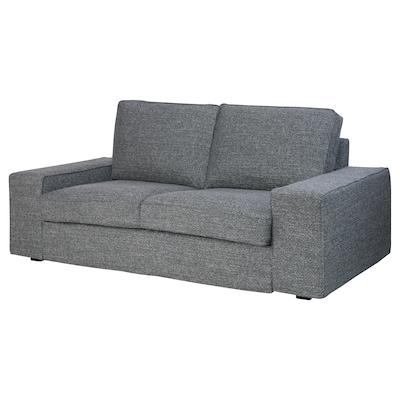 KIVIK canapé 2 places Lejde gris/noir 190 cm 95 cm 83 cm 140 cm 60 cm 45 cm
