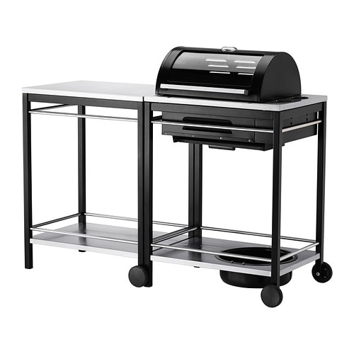 klasen barbecue au gaz avec chariot acier inoxydable ikea. Black Bedroom Furniture Sets. Home Design Ideas