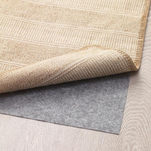 KLEJS tapis tissé à plat beige/blanc 80 cm 50 cm 3 mm 0.40 m² 756 g/m²