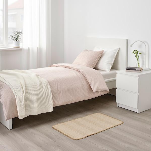 KLEJS Tapis tissé à plat, beige/blanc, 50x80 cm