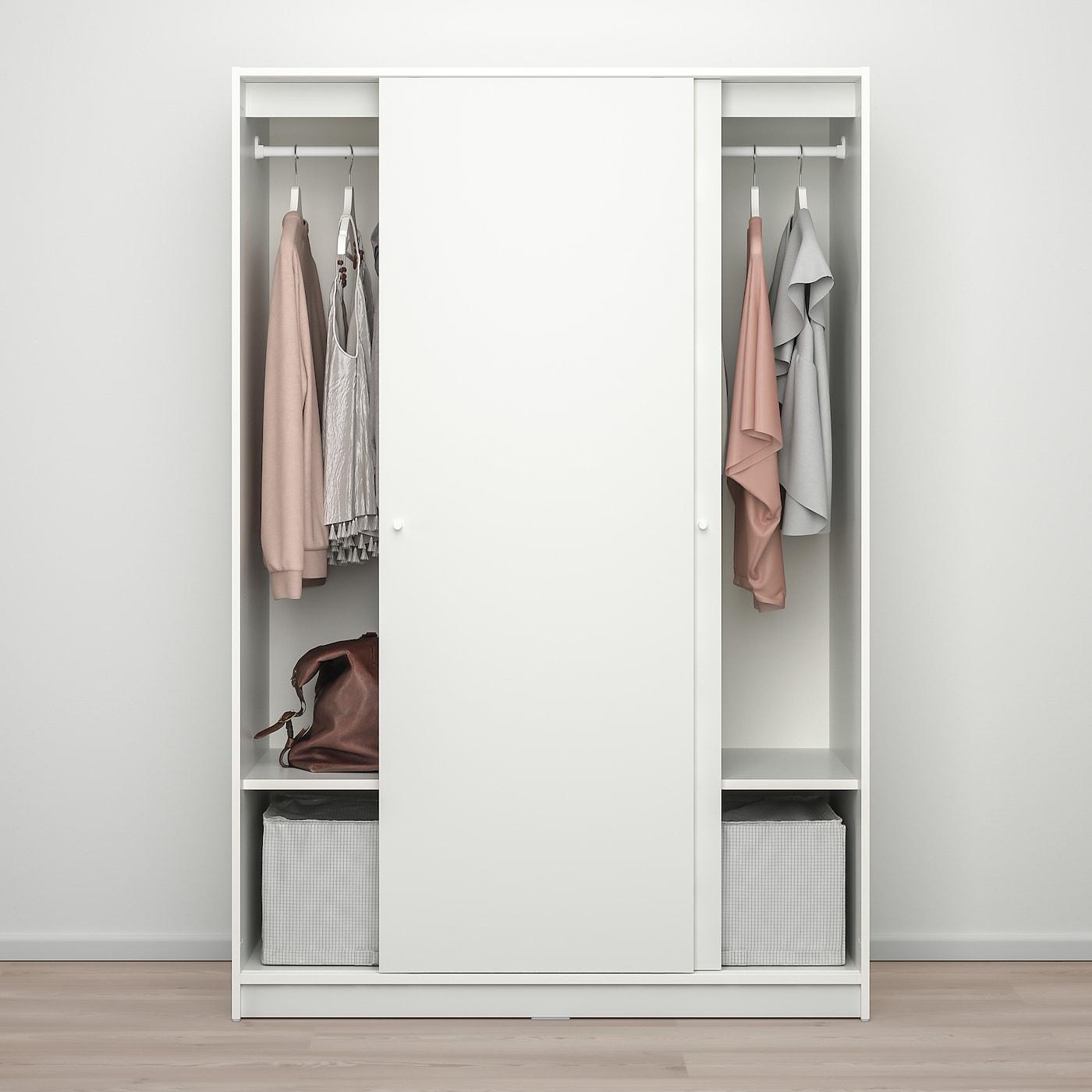 Kleppstad Armoire A Portes Coulissantes Blanc 117x176 Cm Ikea