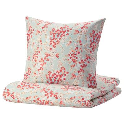 KLIBBGLIM Housse de couette et 2 taies, multicolore/à motif floral, 240x220/65x65 cm