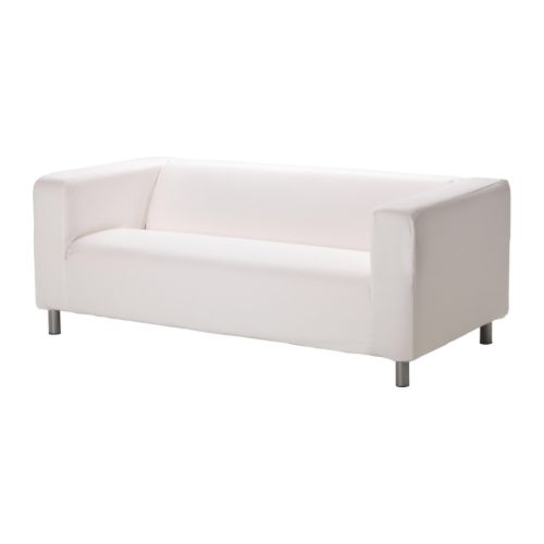 Klippan canap 2 places gran n blanc ikea - Housse klippan 3 places ...