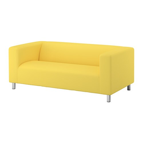 Klippan canap 2 places vissle jaune ikea - Housse klippan 3 places ...