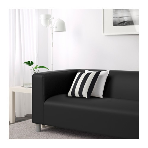 klippan canap 2 places gran n noir ikea. Black Bedroom Furniture Sets. Home Design Ideas