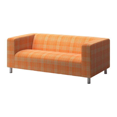 Klippan housse de canap 2pla husie orange ikea for Housses de canape ikea