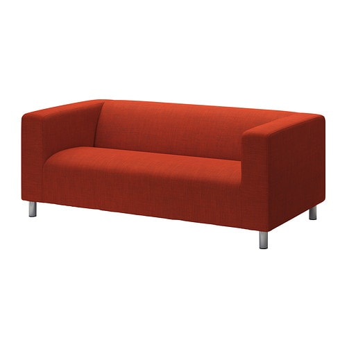 Klippan housse de canap 2pla isunda orange ikea for Housses de canape ikea