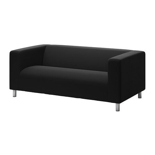 klippan housse de canap 2pla repl sa noir ikea. Black Bedroom Furniture Sets. Home Design Ideas