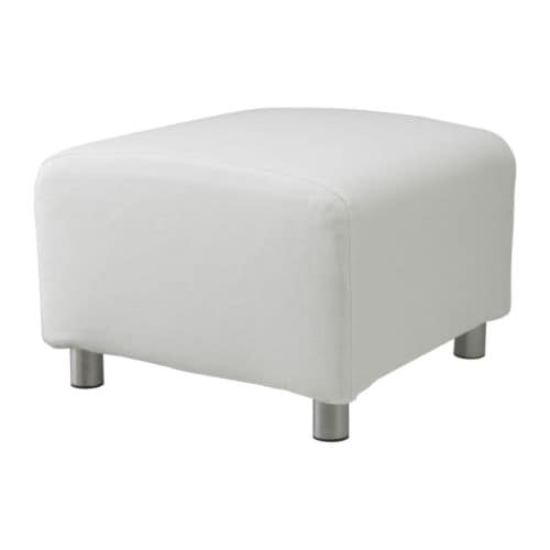 klippan housse pouf gran n blanc ikea. Black Bedroom Furniture Sets. Home Design Ideas