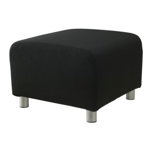klippan housse pouf gran n noir ikea. Black Bedroom Furniture Sets. Home Design Ideas