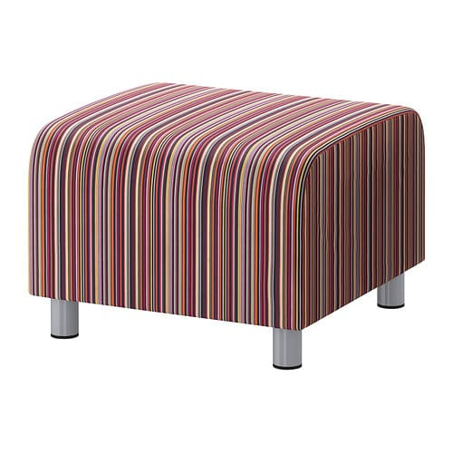 klippan housse pour pouf kulladal multicolore ikea. Black Bedroom Furniture Sets. Home Design Ideas