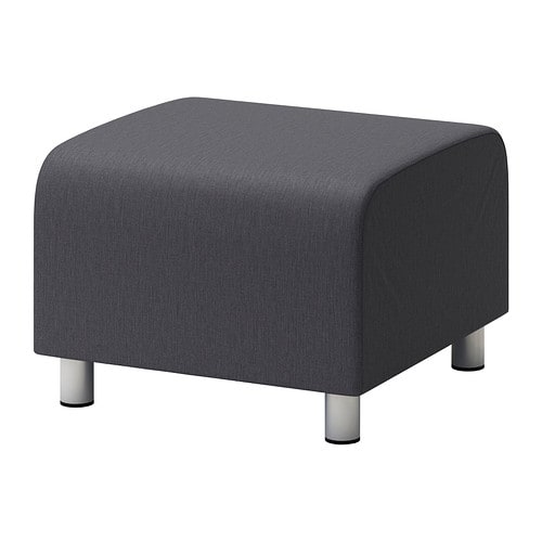 klippan pouf vissle gris ikea. Black Bedroom Furniture Sets. Home Design Ideas