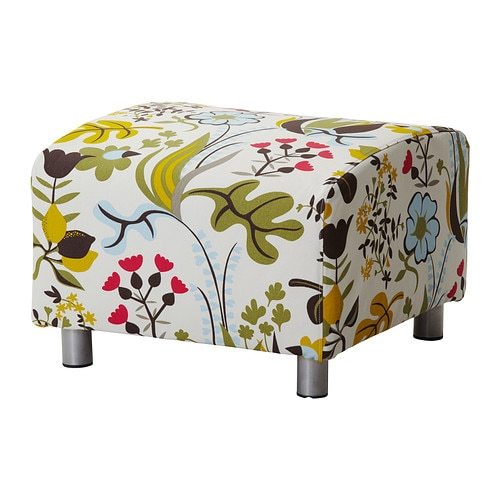 klippan pouf blomsterm la multicolore ikea. Black Bedroom Furniture Sets. Home Design Ideas