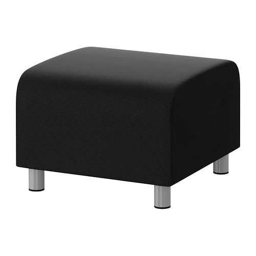 klippan pouf korndal gris fonc ikea. Black Bedroom Furniture Sets. Home Design Ideas