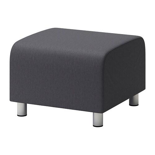 klippan pouf vissle gris ikea. Black Bedroom Furniture Sets. Home Design Ideas